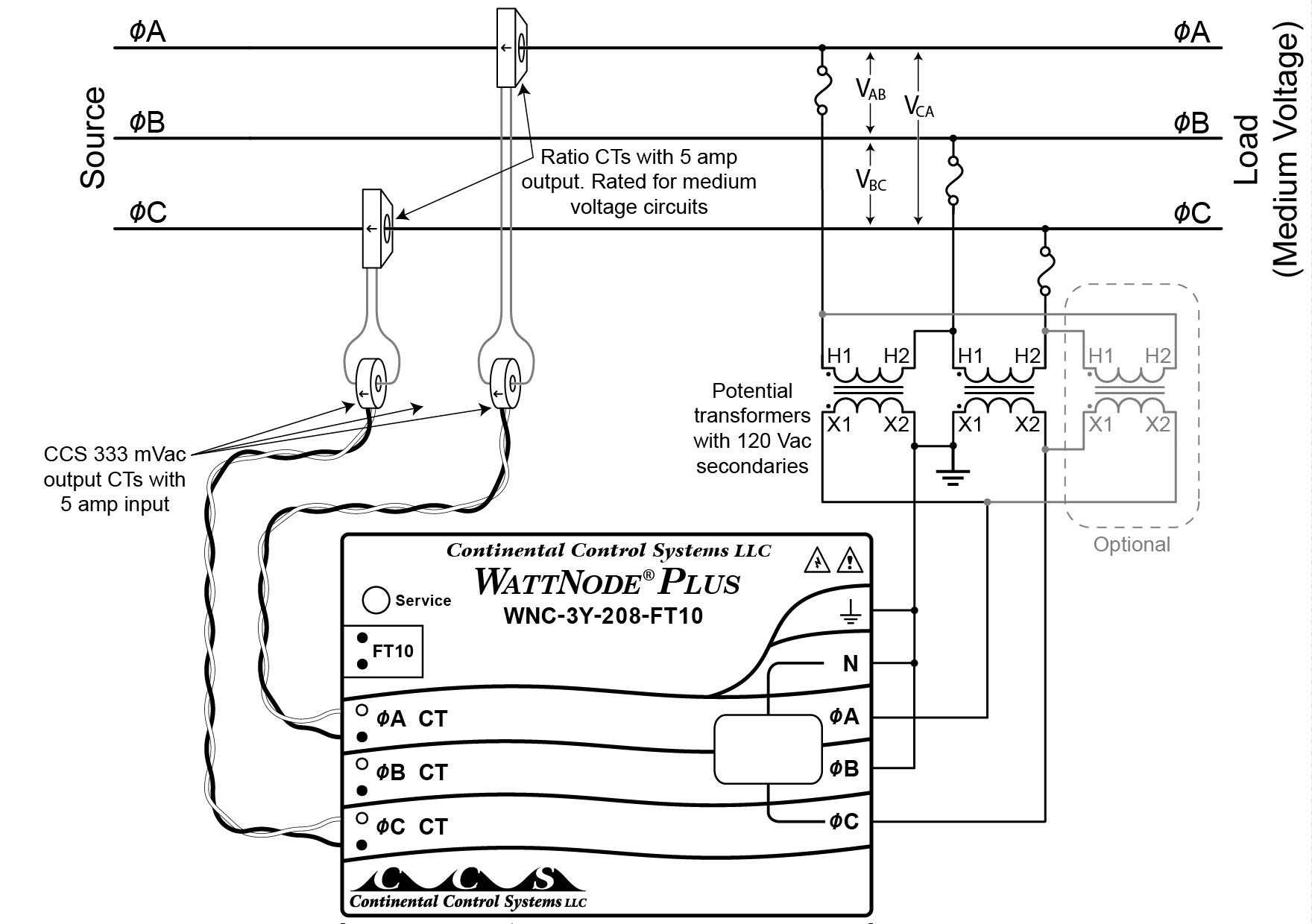 Transformer Bank Schematic Wiring Library Figure 3 Monitoring A Delta Circuit Using Potential Transformers